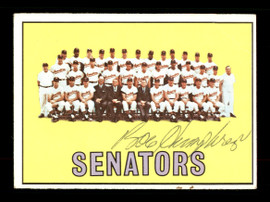 Bob Humphreys Autographed 1967 Topps Team Card #437 Washington Senators SKU #170897