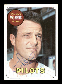 Johnny Morris Autographed 1969 Topps Card #111 Seattle Pilots SKU #170982