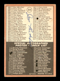 Jose Tartabull Autographed 1969 Topps Checklist Card #214 Boston Red Sox SKU #171013