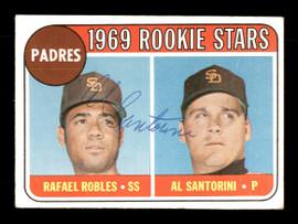 Al Santorini Autographed 1969 Topps Rookie Card #592 San Diego Padres SKU #171125