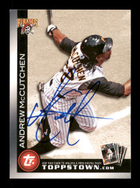 Andrew McCutchen Autographed 2010 Topps Town Card #FCTTT22 Pittsburgh Pirates SKU #171279