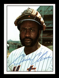 Gene Clines Autographed 1975 SSPC Card #17 New York Mets Regional Issue SKU #171421