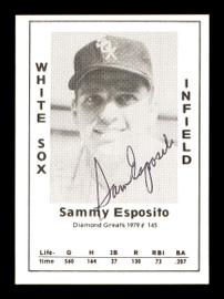 "Sam ""Sammy"" Esposito Autographed 1979 Diamond Greats Card #145 Chicago White Sox SKU #171481"
