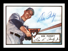 Dee Fondy Autographed 1983 Topps 1952 Topps Reprint Card #359 Chicago Cubs SKU #171489
