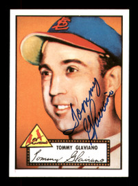Tommy Glaviano Autographed 1983 Topps 1952 Topps Reprint Card #56 St. Louis Cardinals SKU #171519
