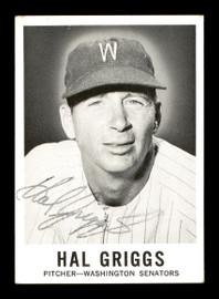 Hal Griggs Autographed 1960 Leaf Card #34 Washington Senators SKU #171537