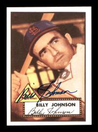 Billy Johnson Autographed 1983 Topps 1952 Topps Reprint Card #83 St. Louis Cardinals SKU #171665