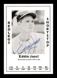 Eddie Joost Autographed 1979 Diamond Greats Card #264 Cincinnati Reds SKU #171673