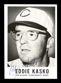 Eddie Kasko Autographed 1960 Leaf Card #9 Cincinnati Reds SKU #171677