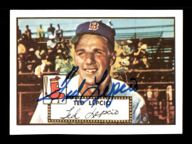 Ted Lepcio Autographed 1983 Topps 1952 Topps Reprint Card #335 Boston Red Sox SKU #171706