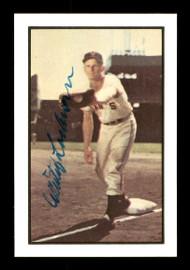 Whitey Lockman Autographed 1983 Bowman 1953 Bowman Reprint Card #128 New York Giants SKU #171725