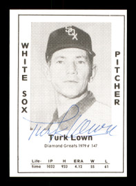 Turk Lown Autographed 1979 Diamond Greats Card #147 Chicago White Sox SKU #171736