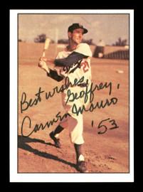 "Carmen Mauro Autographed 1979 TCMA Card #109 Brooklyn Dodgers ""To Geoffrey Best Wishes"" SKU #171769"