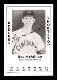 Roy McMillan Autographed 1979 Diamond Greats Card #272 Cincinnati Reds SKU #171796