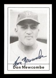 Don Newcombe Autographed 1978 Grand Slam Card #128 Brooklyn Dodgers SKU #171852