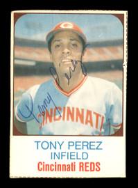Tony Perez Autographed 1975 Hostess Card #127 Cincinnati Reds SKU #171907