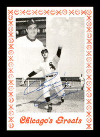 Billy Pierce Autographed 1976 Chicago's Greats Card Chicago White Sox SKU #171921