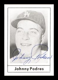 Johnny Podres Autographed 1978 Grand Slam Card #130 Brooklyn Dodgers SKU #171927