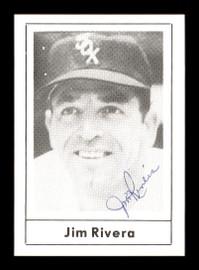 Jim Rivera Autographed 1978 Grand Slam Card #133 Chicago White Sox SKU #171944
