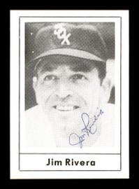 Jim Rivera Autographed 1978 Grand Slam Card #133 Chicago White Sox SKU #171945