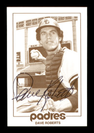 Dave Roberts Autographed 1977 San Diego Padres Schedule Card San Diego Padres SKU #171948