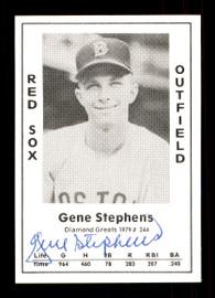 Gene Stephens Autographed 1979 Diamond Greats Card #244 Boston Red Sox SKU #172056