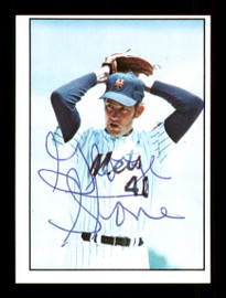 George Stone Autographed 1975 SSPC Card #13 New York Mets Regional Issue SKU #172060