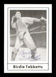 Birdie Tebbetts Autographed 1978 Grand Slam Card #180 Detroit Tigers SKU #172070