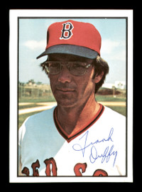 Frank Duffy Autographed 1978 SSPC Card #184 Boston Red Sox SKU #172339