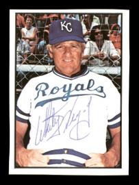Whitey Herzog Autographed 1978 SSPC Card #224 Kansas City Royals SKU #172362