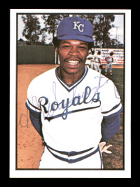 U.L. UL Washington Autographed 1978 SSPC Rookie Card #236 Kansas City Royals SKU #172371