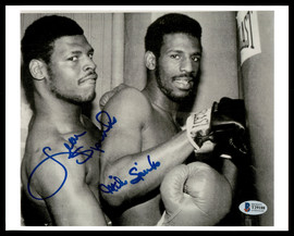 Leon & Michael Spinks Autographed 8x10 Photo Beckett BAS #T29188