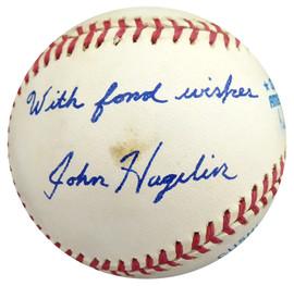 John Hagelin Autographed Official AL Baseball Presidential Candidate Beckett BAS #S78780