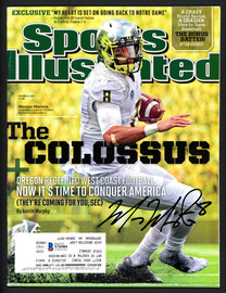 Marcus Mariota Autographed Sports Illustrated Magazine Oregon Ducks Beckett BAS #S76584