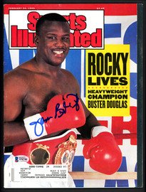 """James """"Buster"""" Douglas Autographed Sports Illustrated Magazine Beckett BAS #S76746"""