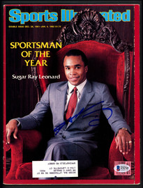 Sugar Ray Leonard Autographed Sports Illustrated Magazine Beckett BAS #S76760