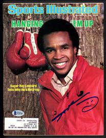 Sugar Ray Leonard Autographed Sports Illustrated Magazine Beckett BAS #S76765