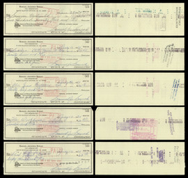 Sam Snead Autographed 3x8 Check Lot of 50 SKU #174042