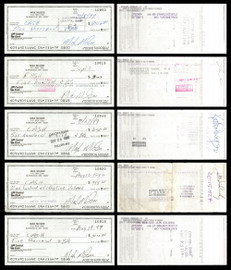 Max McGee Autographed 2.75x6 Check Lot of 50 Green Bay Packers SKU #174046