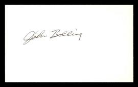 John Bolling Autographed 3x5 Index Card Philadelphia Phillies SKU #174091