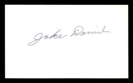 Jake Daniel Autographed 3x5 Index Card Brooklyn Dodgers SKU #174119