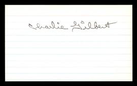 Charlie Gilbert Autographed 3x5 Index Card Brooklyn Dodgers SKU #174146