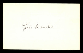 Luke Hamlin Autographed 3x5 Index Card Brooklyn Dodgers SKU #174155