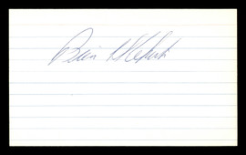 Mike Kekich Autographed 3x5 Index Card New York Yankees & Los Angeles Dodgers SKU #174172