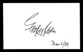 Goody Rosen Autographed 3x5 Index Card Brooklyn Dodgers SKU #174241