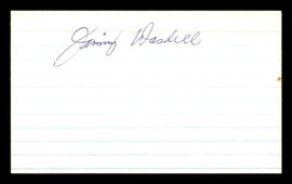 Jimmy Wasdell Autographed 3x5 Index Card Brooklyn Dodgers SKU #174276