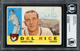 Del Rice Autographed 1960 Topps Card #248 Chicago Cubs Beckett BAS #12056658