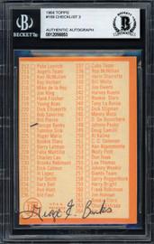 George Banks Autographed 1964 Topps Checklist Card #188 Minnesota Twins Beckett BAS #12056853