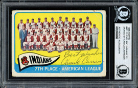 """Camilo """"Cam"""" Carreon Autographed 1965 Topps Team Card #481 Cleveland Indians """"Best Wishes"""" Beckett BAS #12056898"""