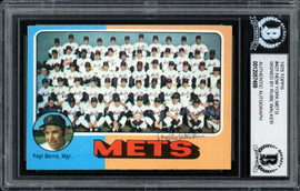 "Al ""Rube"" Walker Autographed 1975 Topps Card #421 New York Mets Beckett BAS #12057489"